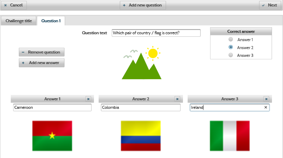 MakeQuestions - It is easy to create a challenge. You can build a quiz with very few clicks